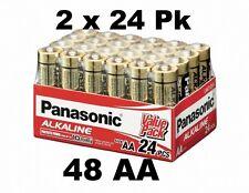 48 Panasonic AA Alkaline Batteries LR06 1.5v Industrial pack