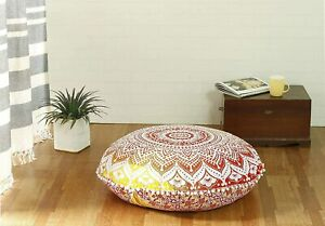 Meditation Floor Cushion Cover Boho Indian Mandala Floor Pillow Cover Pouf Cover