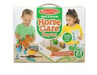 Melissa & Doug Horse Care Play Set for Kids