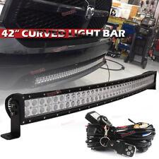 "Fit 2002-UP Dodge Ram Hidden Grille 42""inch 240W LED Light Bull Bar Bumper"
