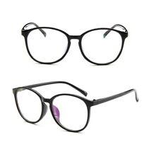 Black Unisex Clear Lens Nerd Geek Round Glasses Eyewear For Men Womens Vintage