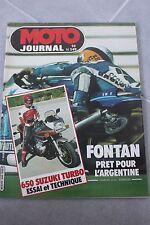MOTO JOURNAL N°549 SUZUKI XN 85 650 TURBO MARC FONTAN MONTESA COTA 80 SWM 500 82