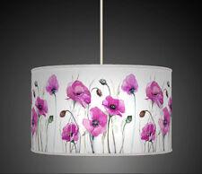 20cm Viola Prugna Papavero fiore fatto a mano in tessuto paralume lampadario pendente 615