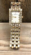 Anne Klein Ladies Women's Swarovski Crystals Gold Tone Watch 10/7148
