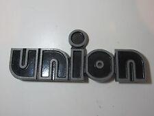 Vintage Union Truck? Metal Emblem Ornament Script Nameplate Trim Semi Freight KW