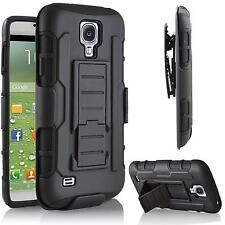 For Samsung Galaxy S4 IV I337 Armor Hard Impact Holster Hybrid Rugged Case Cover
