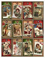 SET OF 12 CHRISTMAS (13) SCRAPBOOK CARD EMBELLISHMENTS HANG/GIFT TAGS