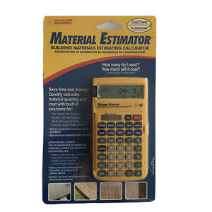 Calculated Industries Material Estimator Calculator #4019 Building Construction
