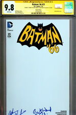 CGC SS 9.8 Batman '66 #23 SIGNED Adam West Burt Ward Blank Sketch Cover DC Comic