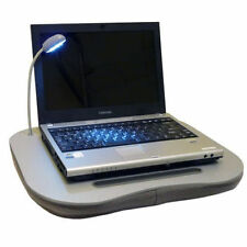 MEMORY FOAM LAPTOP CUSHION PORTABLE LAP TOP TRAY TABLE 5 LED LIGHT CUP HOLDER