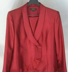 Tahari Arther S. Levine LUXE Women's size 18 red skirt suit christmas nwot
