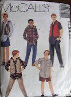 McCALL'S Sewing Pattern no.7194 Boys wardrobe size 10-12-14
