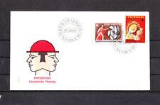 Ef/ Luxembourg  enveloppe    prévention accidents du travail  1980