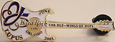 Hard Rock Cafe ORLANDO 2001 LUPUS DLF Charity Guitar PIN - HRC Catalog #6883