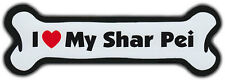 Dog Bone Magnet: I Love My Shar Pei | For Cars, Refrigerators, More