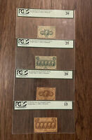 1862 First Issue US Fractional Currency 5, 10, 25 & 50-Cent Notes 💯 PCGS Set