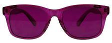 Hipster Mens Designer Poker Sunglasses Magenta Frame/Lens Retro Vintage Wayfarer