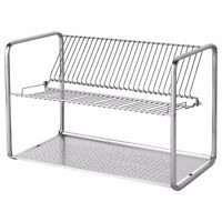ORDNING Dish Drainer Stainless Steel Drying Rack 50x27x36cm IKEA