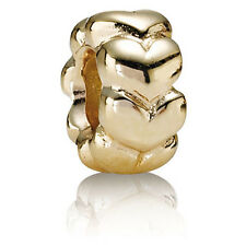 PANDORA | 14K GOLD BIG HEARTS SPACER 750201 *NEW* Authentic RARE RETIRED 585 ALE