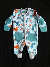 Baby clothes BOY newborn 0-1m aqua/orange/grey dinosaurs babygrow TU SEE SHOP!