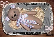 Vintage Stuffed Toy Sewing Bear doll - Pdf E-Pattern ca.28cm