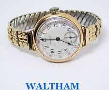 Vintage 14k Yellow Gold  WALTHAM Ladies Winding Watch 1920s* SERVICED