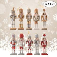 5PCSChristmas Nutcracker Puppets Tree Decor Girly Heart Ornament Walnuts Sold*ws