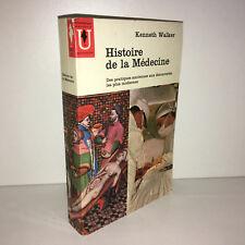 Kenneth Walker HISTOIRE DE LA MEDECINE Marabout Université POCHE 1962 - CD35C