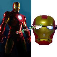 Halloween Costume Marvel Super Hero Iron Man Mask LED Lights
