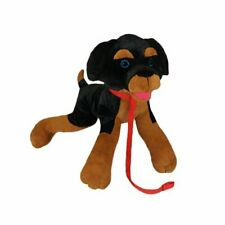 Rory The Rottweiler Dog Collectible Plush, Black/Brown, Size 14