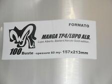 "100 BUSTE WR ""MANGA TP4 - LUPO ALBERTO"" 157x213 mm x Bastard Naruto Gold Edition"