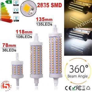 SMD 2835 R7S LED 10W 15W 20W 78/118/135mm Corn Flood Bulb Light vs Halogen Lamp