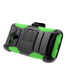 BkGrn Holster Rug Case Alcatel One Touch Pop Star 2 LTE Pop Nova LTE A520L A521L