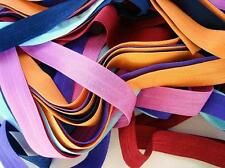 10 yards Fold Over Elastic Spandex Band Color/trim/sewing/hair/craft T155-Orange