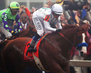 JUSTIFY 2018 PREAKNESS STAKES WINNER MIKE SMITH UP HORSE RACING 8X10 PHOTO 2