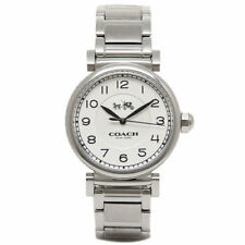 NWT Coach Women Watch Stainless Steel Madison Silver Ladies 14502394 MSRP $250