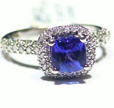 2.42CT 14K Gold Natural Tanzanite Diamond Vintage AAA Art Deco Engagement Ring