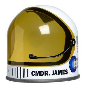 Customised/Personalise-White-Jr Astronaut Helmet-Movable Visor-NASA Logo-Aeromax