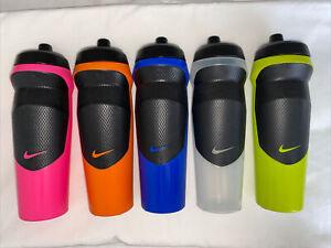Nike Water Bottle Clear/ Volt Green / Orange / Pink/ Blue