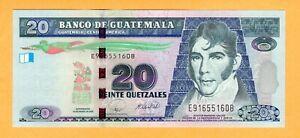 Guatemala aUNC 20 Quetzales 2008 P-118 Banknote