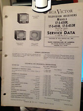 1955 RCA VICTOR  TELEVISION RECEIVERS MODELS 17-S-45OR,17-S-451R,17 SERVICE DATA