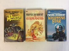 Frank Herbert: Lot of 3 Vintage Science Fiction Paperbacks-Fair unmarked copies