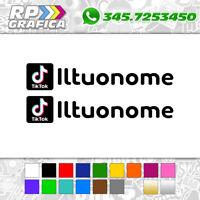 KIT 2 ADESIVI TIK TOK tiktok sticker USERNAME nome AUTO MOTO logo a colori