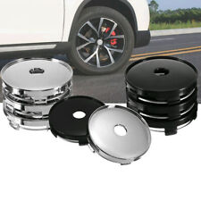 4Pcs ABS Plastic Universal Car Wheel Tire Rims Center Hub Caps Cover Decorative