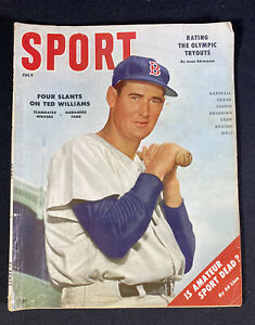 Ted Williams Boston Red Sox Cover Vintage Sport Magazine July 1956