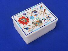 Marble Jewelry Box carnelin Paua Shell Pietra Dura Handmade Stone for Gift