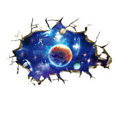 3D Outer Space Planet Wall Stickers Home Decor Mural Art Wall Decals Remova J1X3