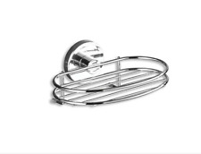 WENKO 20890100 Vacuum-Loc soap holder Milazzo - fixing without drilling, Steel,