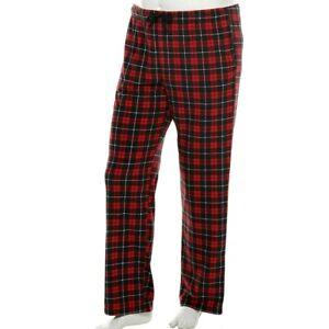 NWT Big & Tall Mens Pajama Pants Sleep Red Plaid Holiday Christmas XL Tall XLT