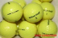 20 Wilson Staff Duo Yellow Mint Condition GolfBalls